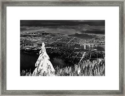 Vancouver Winter Cityscape Framed Print
