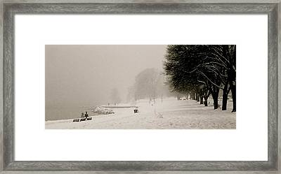 Vancouver Winter Framed Print