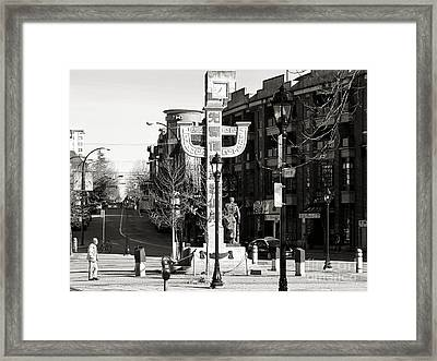 Framed Print featuring the photograph Vancouver's Chinatown by Cendrine Marrouat