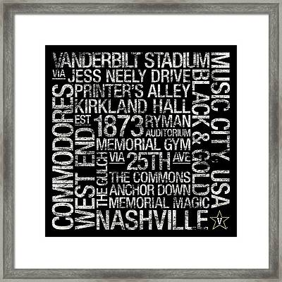 Vanderbilt College Colors Subway Art Framed Print
