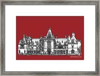 Vanderbilt's Biltmore Estate In Red Framed Print