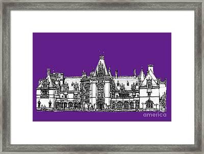 Vanderbilt's Biltmore In Purple Framed Print by Adendorff Design