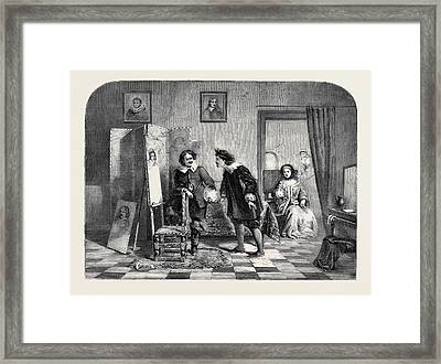 Vandyke And Frank Hals From A Picture By D Framed Print by English School