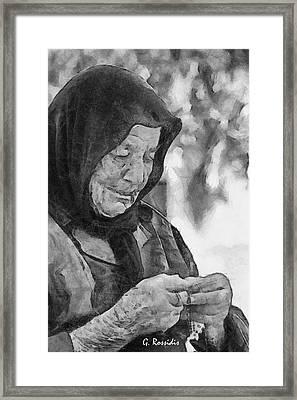 Vangelitsa Framed Print by George Rossidis