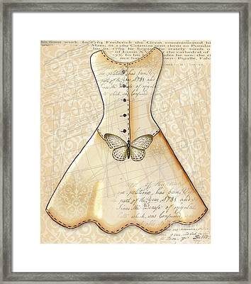 Vanilla Dress Framed Print