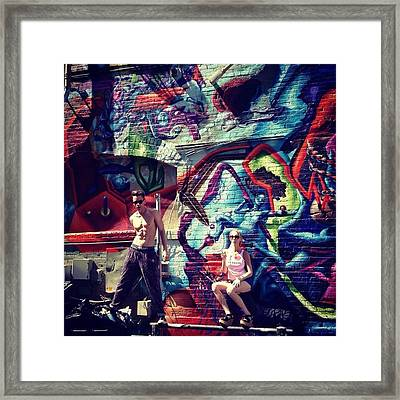 Vanilla Ice Graffiti Venice Beach  Framed Print