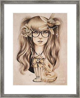 Framed Print featuring the mixed media Vanilla by Sheena Pike