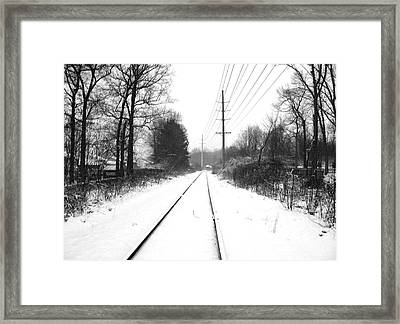 Vanishing Point. Framed Print