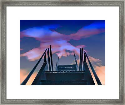 Vanishing Stairs Framed Print by Kellice Swaggerty