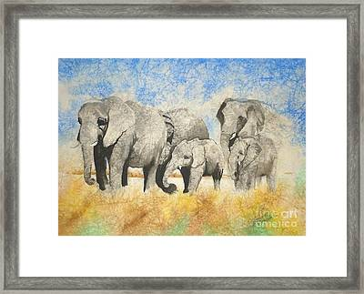 Vanishing Thunder Series - The Family  Framed Print