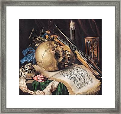 Vanitas Framed Print by Simon Renard de Saint Andre