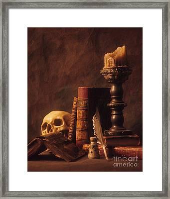 Framed Print featuring the photograph Vanitas Still Life by ELDavis Photography