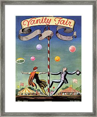 Vanity Fair Cover Featuring A Couple Dancing Framed Print by Rockwell Kent