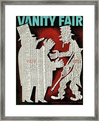 Vanity Fair Cover Featuring A Fat Framed Print by Artist Unknown