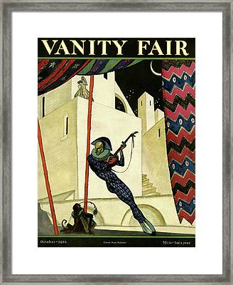 Vanity Fair Cover Featuring A Harlequin Framed Print by Artist Unknown