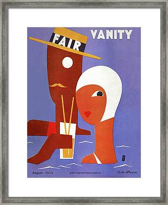 Vanity Fair Cover Featuring A Man And A Woman Framed Print
