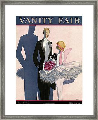 Vanity Fair Cover Featuring A Man In A Tuxedo Framed Print by Eduardo Garcia Benito