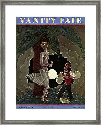 Vanity Fair Cover Featuring A Man Professing Framed Print