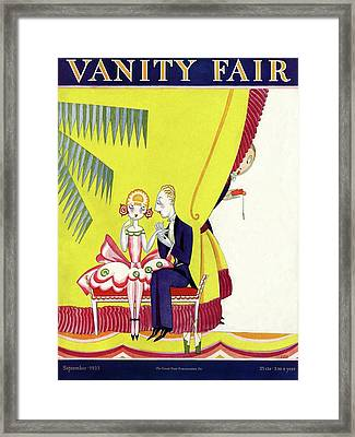 Vanity Fair Cover Featuring A Man Seducing Framed Print by A. H. Fish