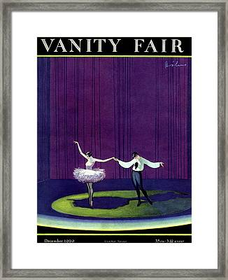 Vanity Fair Cover Featuring A Masked Male Dancer Framed Print by William Bolin