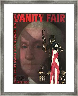 Vanity Fair Cover Featuring A Montage Of George Framed Print by Edward Steichen