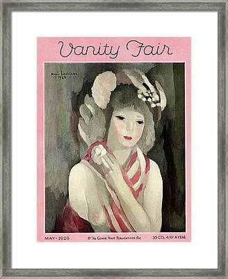 Vanity Fair Cover Featuring A Painting Framed Print