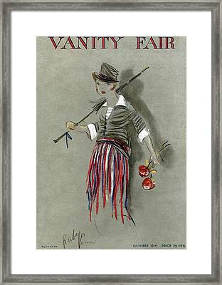 Vanity Fair Cover Featuring A Poorly Dressed Framed Print