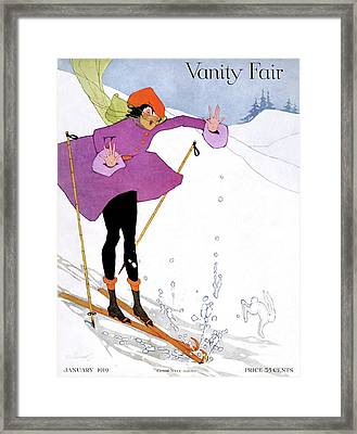 Vanity Fair Cover Featuring A Woman Framed Print