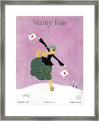 Vanity Fair Cover Featuring A Woman Holding White Framed Print