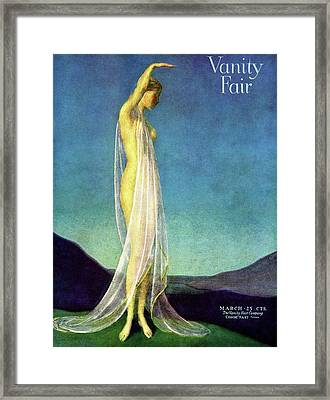 Vanity Fair Cover Featuring A Woman In A Sheer Framed Print by Warren Davis