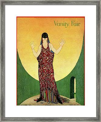Vanity Fair Cover Featuring A Woman In An Ornate Framed Print