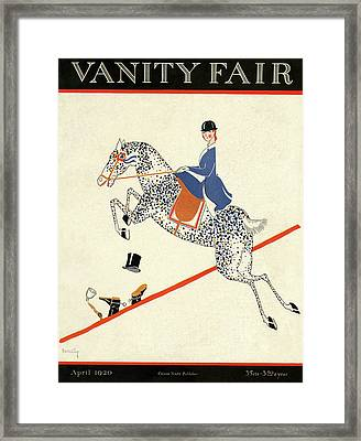 Vanity Fair Cover Featuring A Woman On A Horse Framed Print by Aline Farrelly