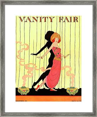 Vanity Fair Cover Featuring A Woman Onstage Framed Print