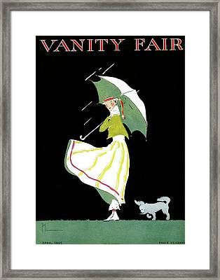 Vanity Fair Cover Featuring A Woman Standing Framed Print by Ethel Plummer