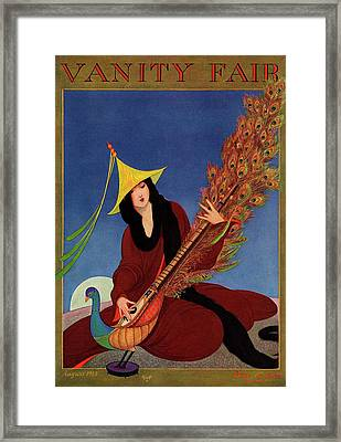 Vanity Fair Cover Featuring A Woman Wearing Framed Print by George Wolfe Plank