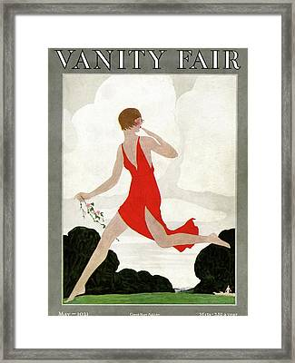 Vanity Fair Cover Featuring A Young Woman Framed Print by Andre E Marty
