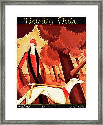 Vanity Fair Cover Featuring An Elegant Woman Framed Print by Victor Bobritsky