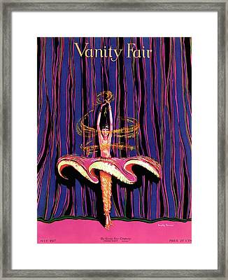 Vanity Fair Cover Featuring And Exotic Dancer Framed Print by Dorothy Ferriss