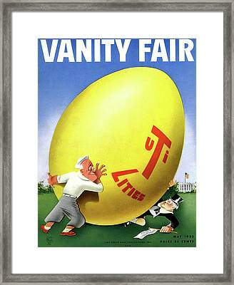 Vanity Fair Cover Featuring Easter Egg Rolling Framed Print by Paolo Garretto