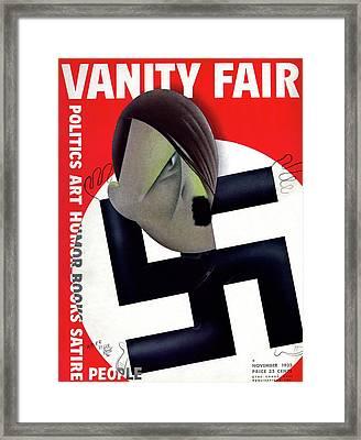 Vanity Fair Cover Featuring Hitler's Face Framed Print