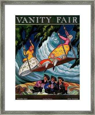 Vanity Fair Cover Featuring Peasant Women Framed Print
