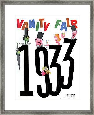 Vanity Fair Cover Featuring People Celebrating Framed Print by Frederick Chance