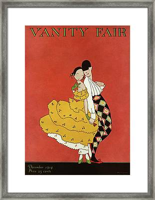 Vanity Fair Cover Featuring Two Dancers Framed Print by A. H. Fish