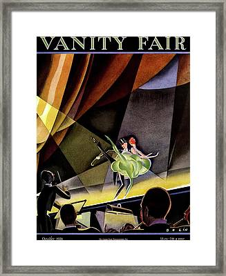 Vanity Fair Cover Featuring Two Performers Framed Print
