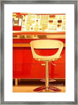 Vanity Red Framed Print by Vishakha Bhagat