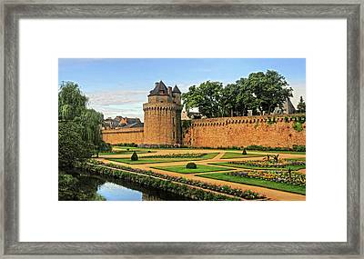 Framed Print featuring the photograph Vannes In Brittany France by Dave Mills