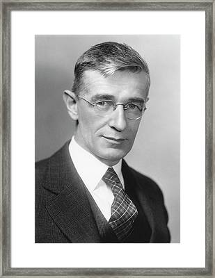 Vannevar Bush Framed Print by Emilio Segre Visual Archives/american Institute Of Physics
