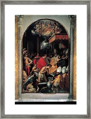 Vanni Francesco, The Baptism Framed Print by Everett