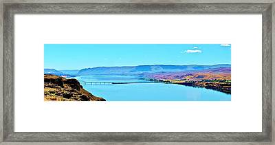 Vantage Bridge Over The Columbia River Framed Print