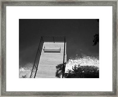 Vantage Point Bw Framed Print by Elizabeth Sullivan